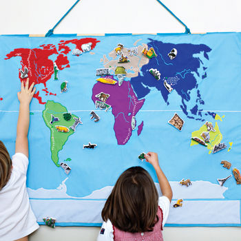World Map Wall Hanging: 3rd Birthday Present