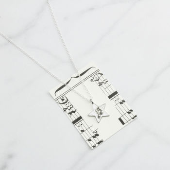 Star Music Note Necklace