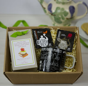 Personalised Teacher's Diy Tea And Biscuits Hamper