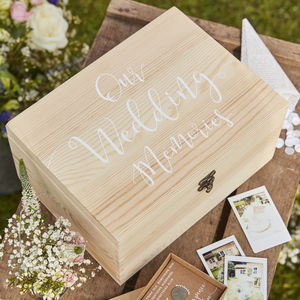 Wedding Wooden Memory Box Keepsake