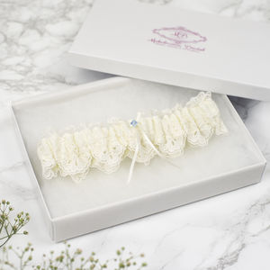 Embroidered Tulle Lace Bridal Garter - bridal garters