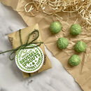 Pair Of Stocking Filler Chocolate Brussels Sprouts