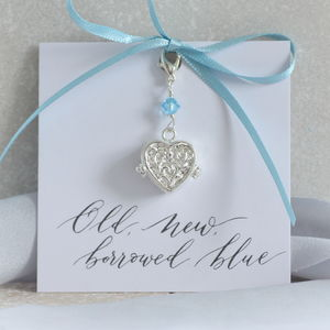 Personalised Something Blue Locket Charm - personalised jewellery