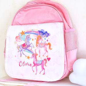 Personalised School Bag 'Unicorn' - unicorns