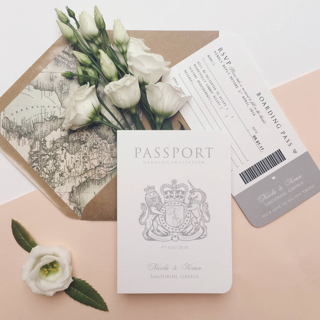 around the world\' passport wedding invitation by ditsy chic ...