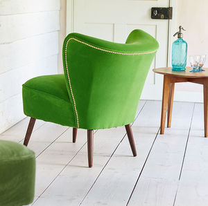 The New Bartholomew Cocktail Chair In Baize Omega - new in home