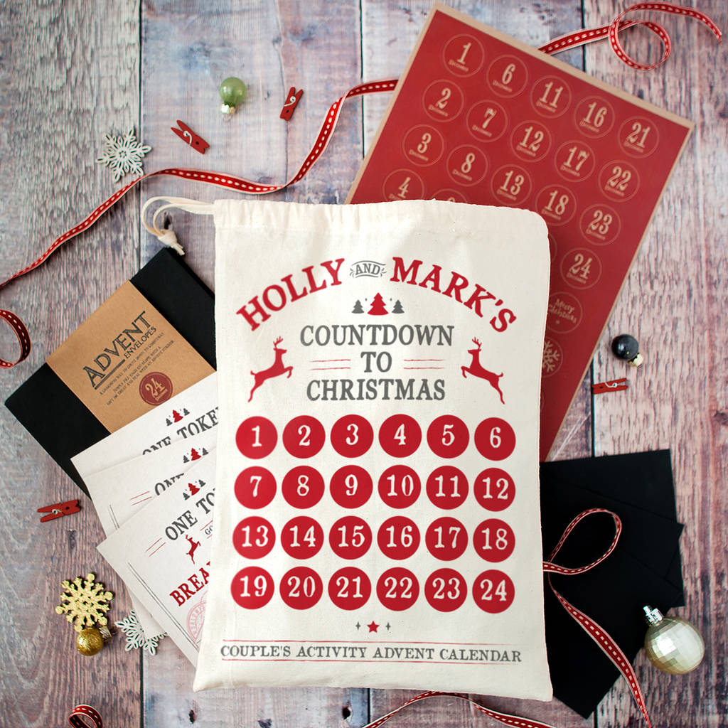 Original Advent Calendar Ideas : Personalised couples advent calendar by the little picture