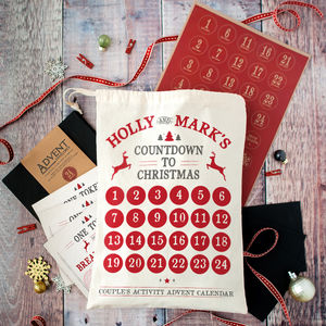 Personalised Couples Advent Calendar