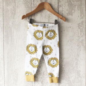Gold Lion Baby Leggings