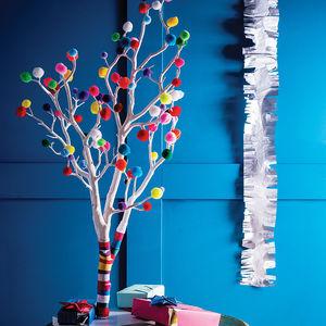 Pom Pom Christmas Tree - bright & bold styling