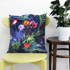 Bold Tropical Botanical Print Scatter And Floor Cushion