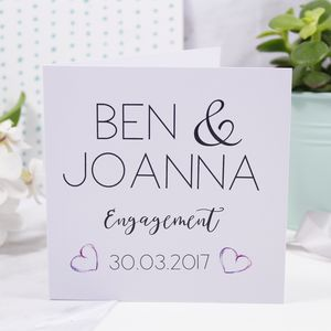 Personalised Typography Engagement Card