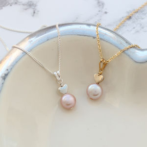 Single Pink Pearl Pendant - necklaces & pendants