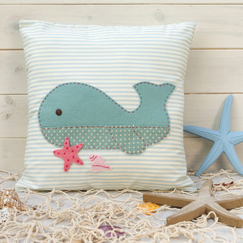 Wigsby Whale Cushion Cover Sewing Kit