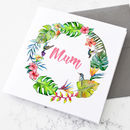 Personalised Mum Floral Watercolour Card