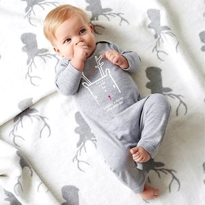 First Christmas Nordic Deer Babygrow - baby's first christmas