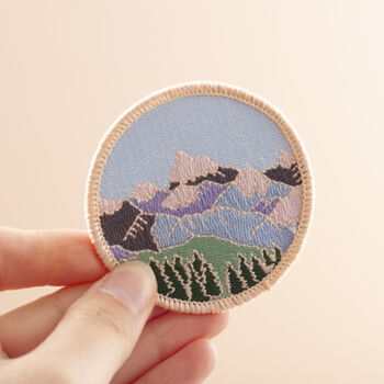 Mountains Embroidered Patch
