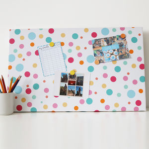 Multi Polka Dot Magnetic Noticeboard - noticeboards