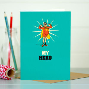 Dad 'Dad's A Hero' Card - birthday cards