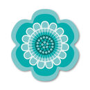Flower Power Design Placemat - Aqua