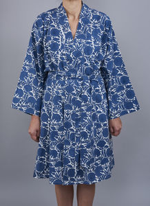 Amritsar New Floral Design Wrap Style Bathrobe