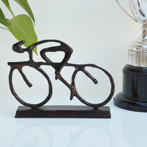 Cyclist Sculpture - gifts for him