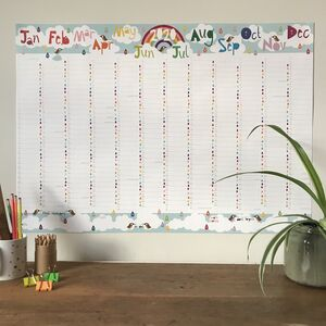 2020 Large Rainbow Wall Planner Calendar