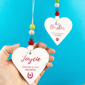 'Remember When' Christmas Heart Decoration