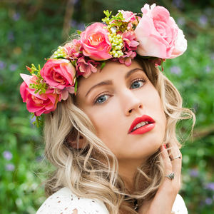 Rose And Foliage Flower Crown