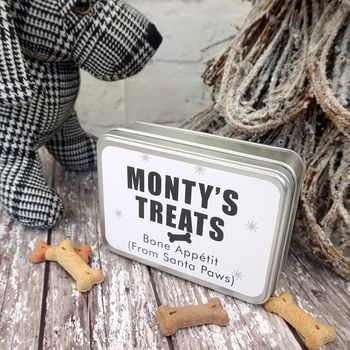 Personalised Dog Treat Biscuit Tin
