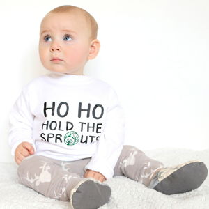 'Ho Ho Hold The Sprouts' Christmas T Shirt - t-shirts & tops