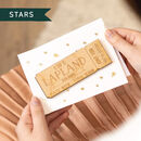 Personalised Wooden Ticket Gift Card