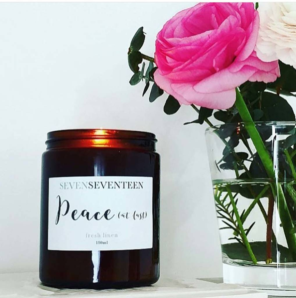 'Peace At Last' Fresh Linen Scented Candle