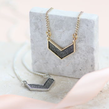 Sparkle Chevron Necklace