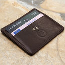 Personalised Italian Leather Card Holder. 'The Marco'