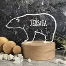 Personalised Polar Bear LED Light