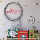 Personalised Large Fairy Light Hoop