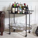Granville Metal Oval Drink's Trolley With Shelf