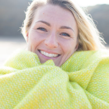 Lemon Sorbet Wool Beach Blanket