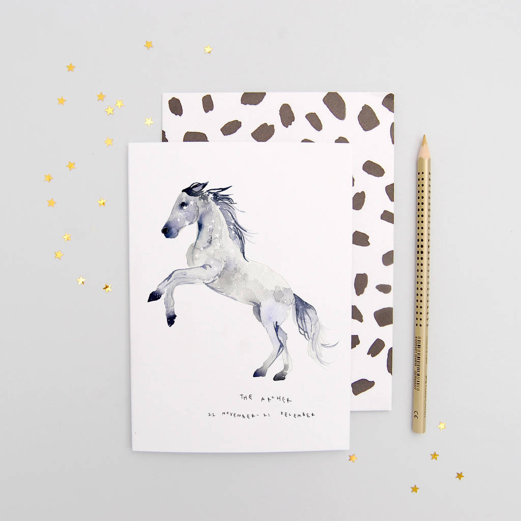 The Archer Sagittarius Zodiac Birthday Card