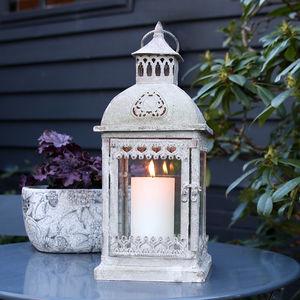 Scandi Metal Lantern - new in garden