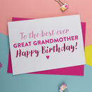 Great Gran, Great Granny Birthday Card