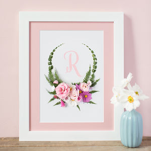 Floral Letter Print - baby's room