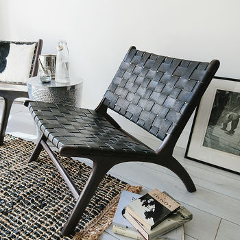 Black Wash Anya Lounge Chair