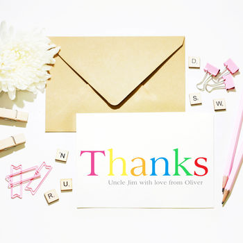 Big Bright 'Thanks' Card
