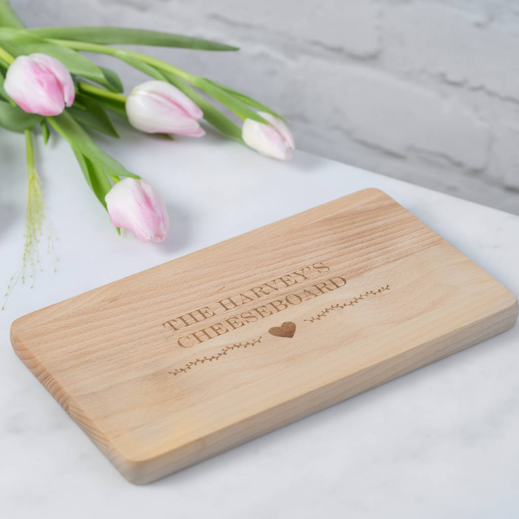 Personalised Family Wooden Cheese Or Chopping Board
