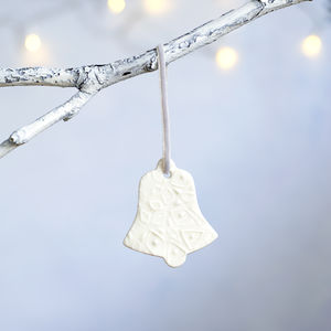 Porcelain Christmas Bell Decoration