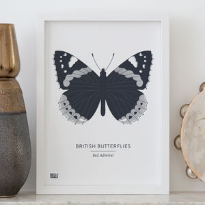 'British Butterflies: Red Admiral' Screen Print