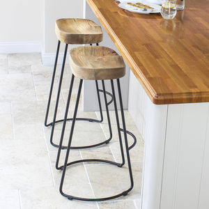 Wood And Iron Bar Stool - dining room