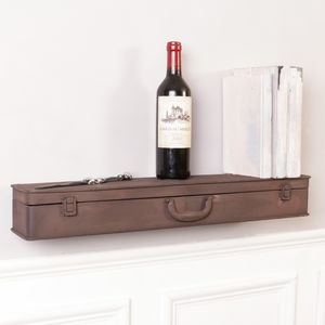 Suitcase Antique Brown Shelf